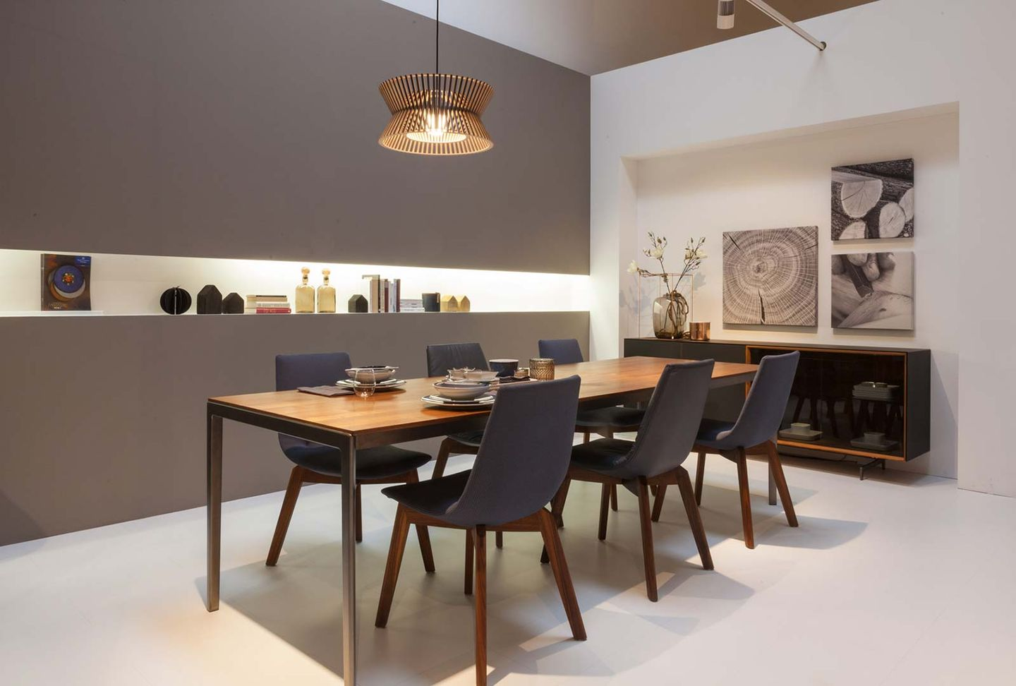 tak dining table in walnut at TEAM 7 Wels