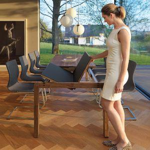 Раскладной стол magnum в орехе с цветным стеклом