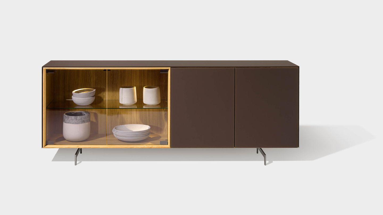 Sideboard di design cubus pure con elementi di design e pattini