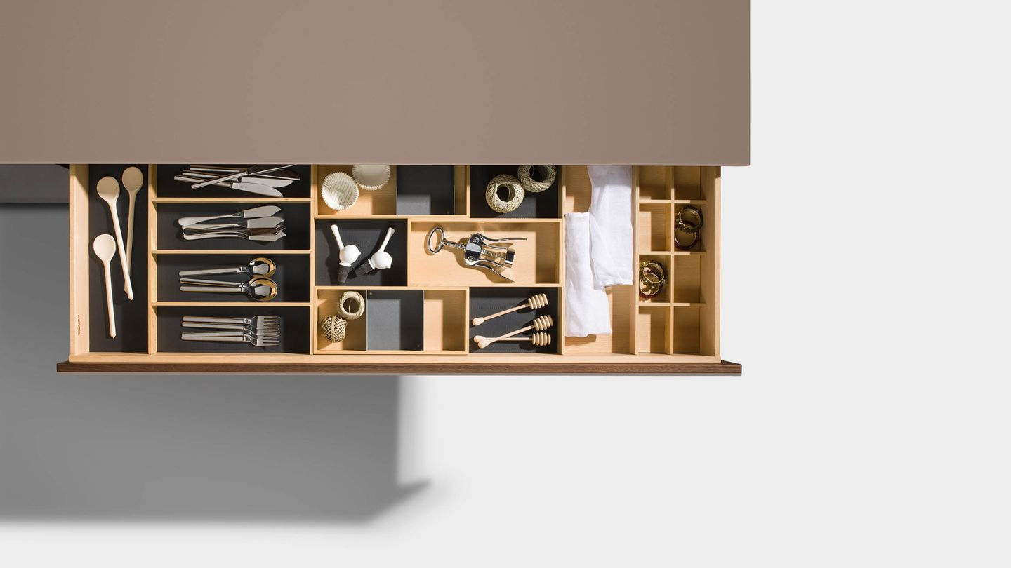 cubus pure sideboard with practical drawer organisation