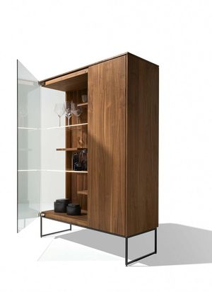 TEAM 7 filigno glass cabinet with open glass door