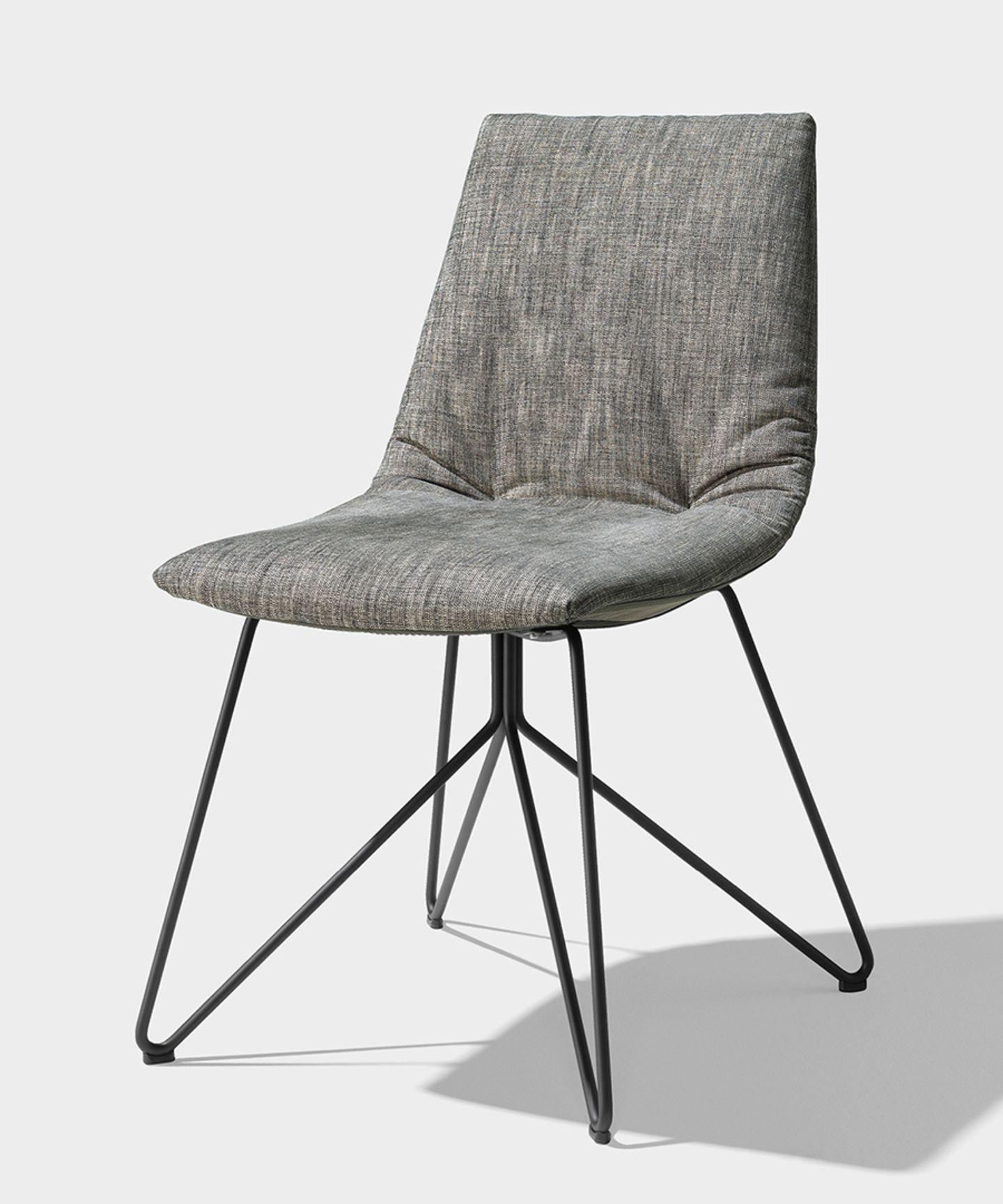 lui chaise tissu maple pietement en fil d'acier finition inox