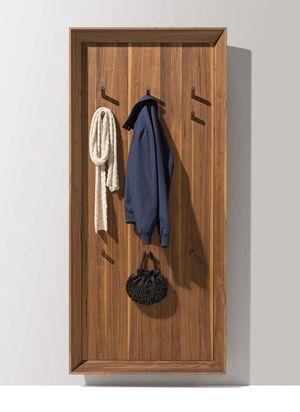 Ingresso haiku sospeso in legno massello di noce