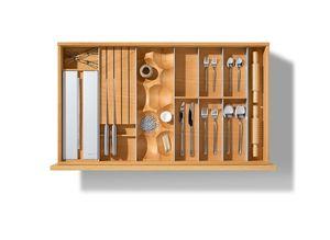 Ladeneinteilung für die Küche in Buche