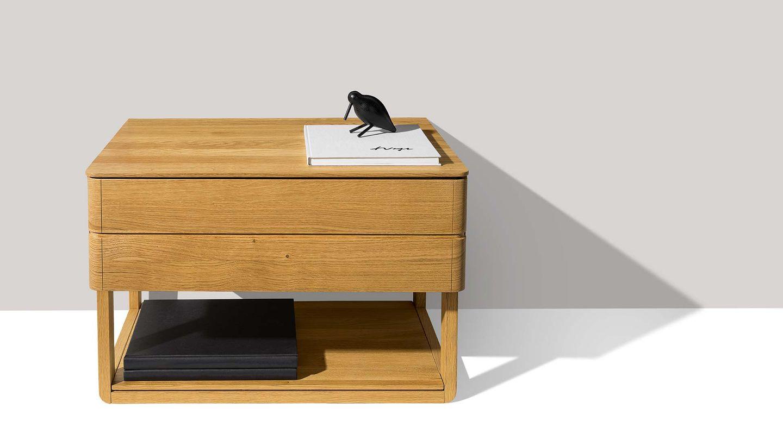table de chevet float autonome avec grand tiroir de TEAM7