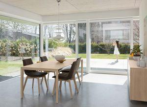 Tavolo di design tak allungabile con piedi in legno