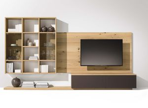 cubus wall unit with light wood