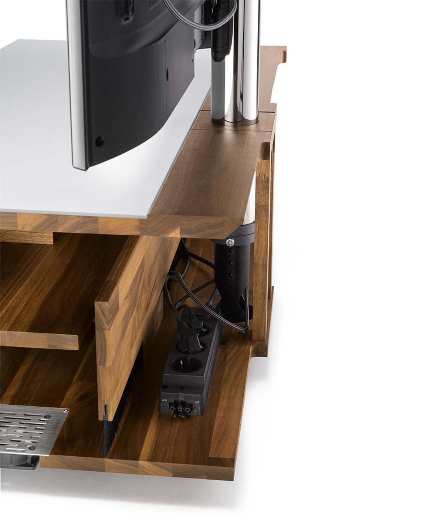 Home Entertainment Möbel cubus pure mit aufgschnittenem Korpus von hinten