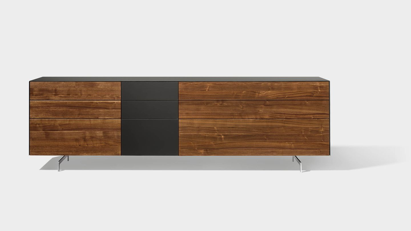 cubus pure sideboard made of solid wood with slides