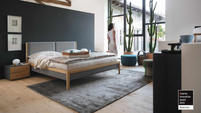 Design award for the TEAM 7 mylon bed - interior innovation award 2015