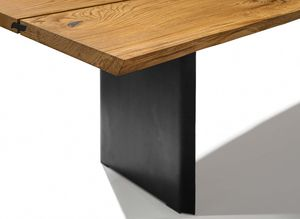table leg of the echt.zeit table by TEAM 7 in black