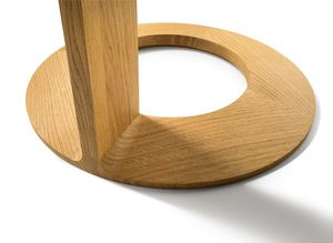 loup side table made of solid wood with detailed craftsmanship