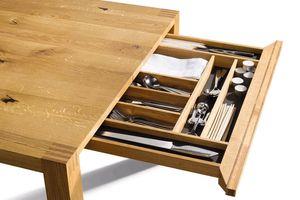 Table loft de TEAM 7 avec tiroir à couverts