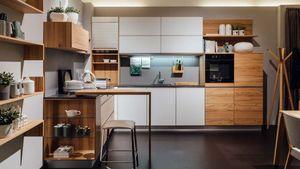 l1 kitchen in core beech TEAM 7 Linz