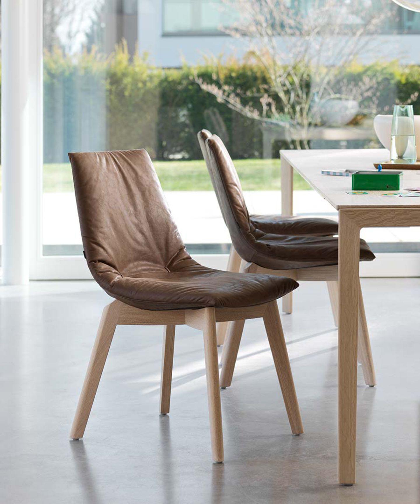 lui sedia legno naturale