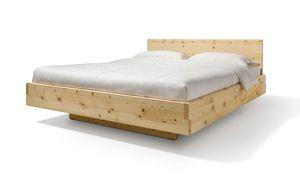 Letto nox in legno massello con testiera in cembro