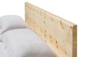 Massivholzbett nox mit Holzhaupt in Zirbe