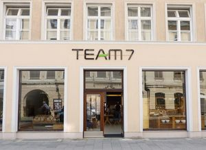 External view of store at TEAM 7 Munich