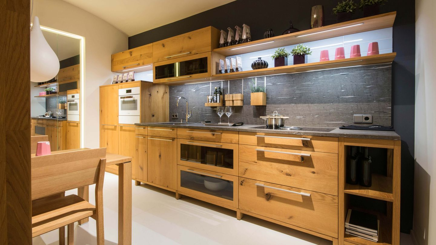 loft kitchen in wild oak TEAM 7 Vienna