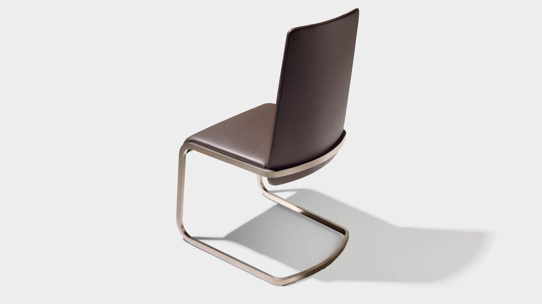 Stuhl Freischwinger f1 mit Fußgestell bronze matt