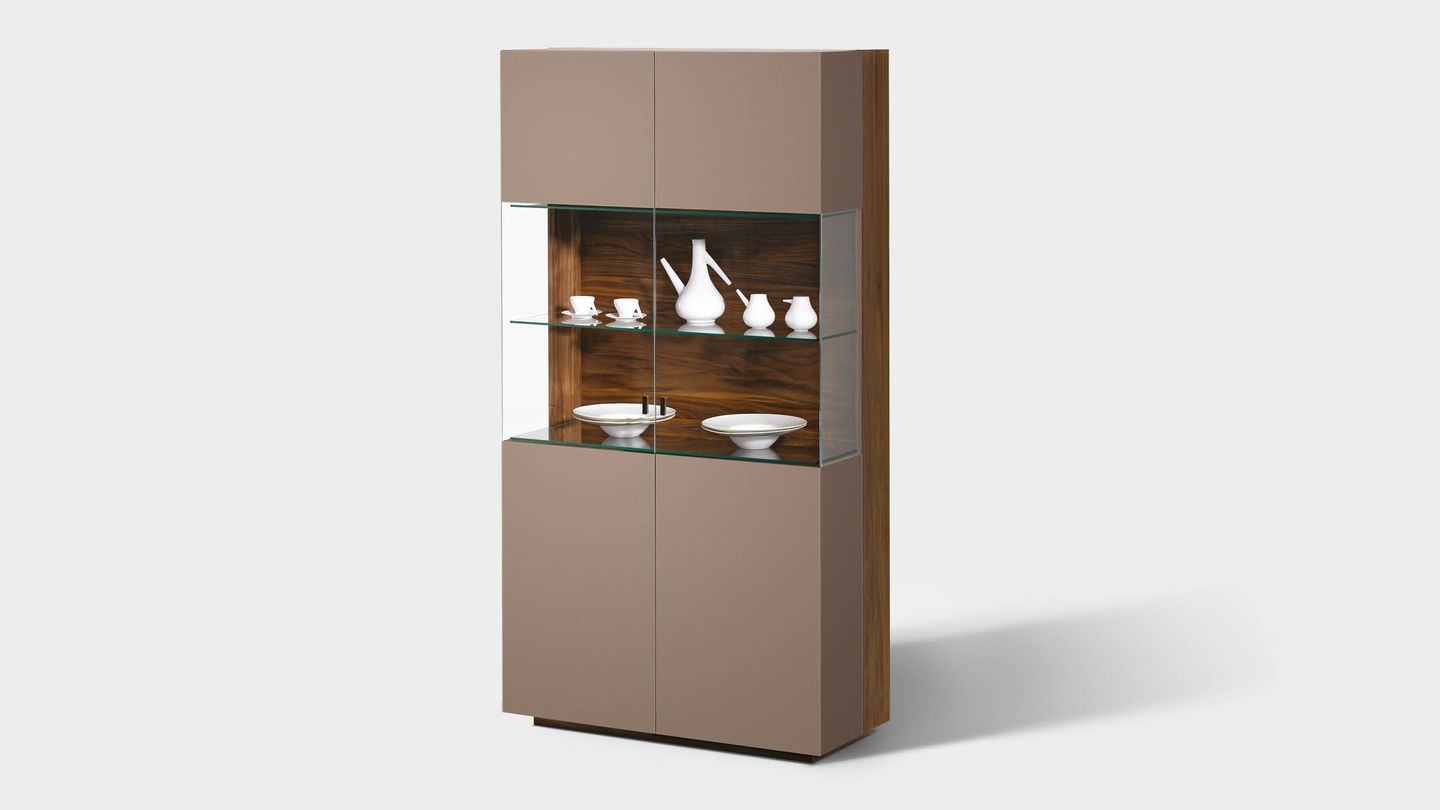 cubus glass cabinet with coloured glass