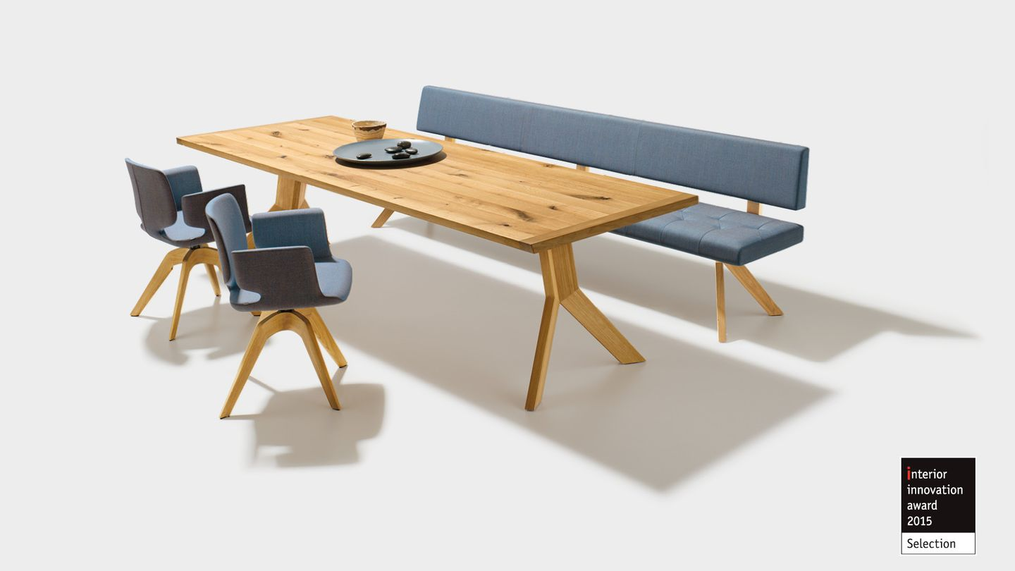 Prix de design pour la table yps de TEAM 7 - interior innovation award 2015