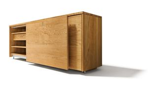 cubus sideboard made of solid wood with sliding door