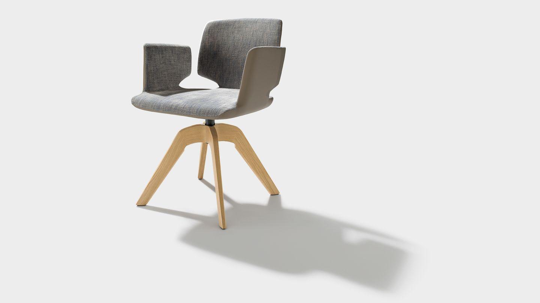 fauteuil pivotant aye en tissu maple avec accoudoirs