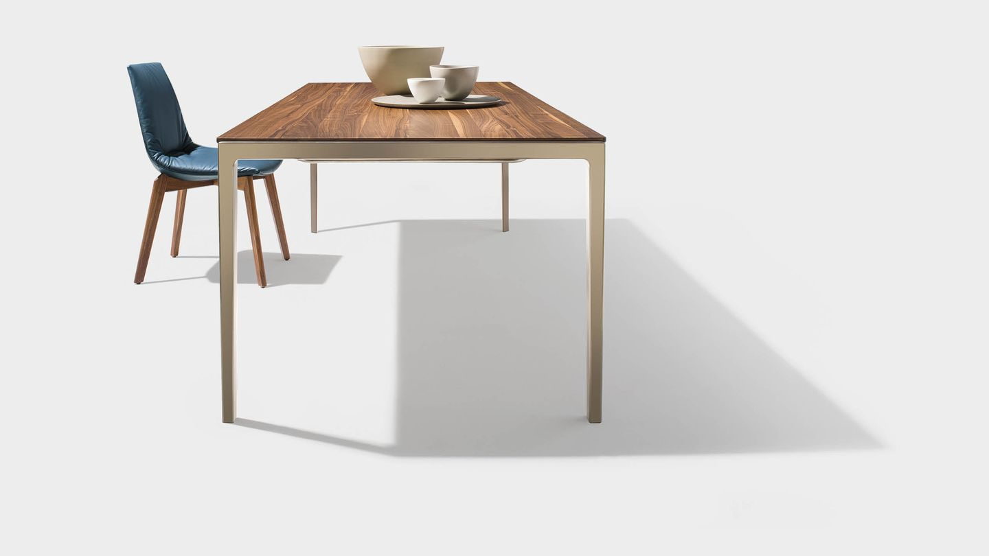 tak solid wood table in walnut
