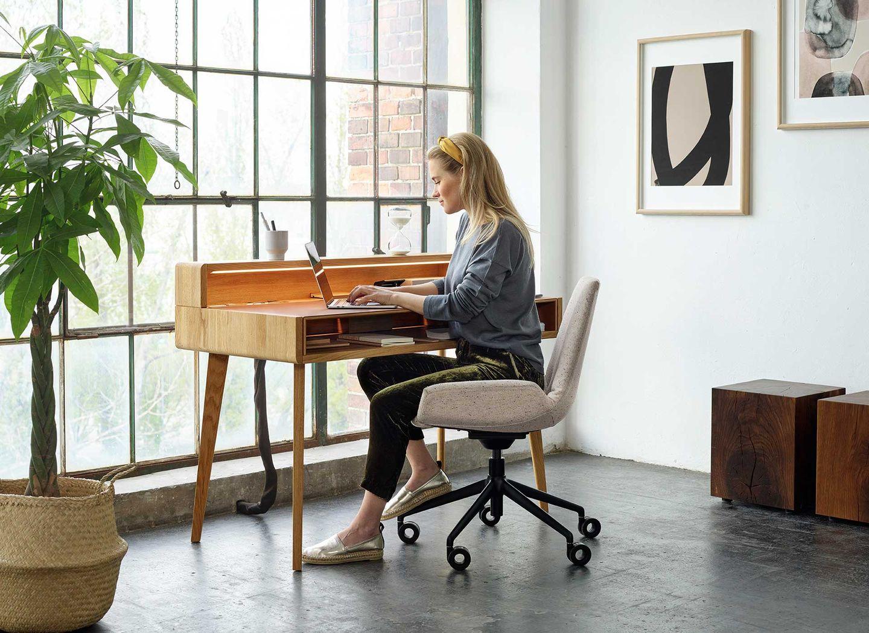 Chaise de bureau lui plus, réglable en hauteur en continu