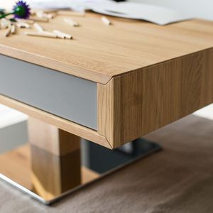Coffee table lift with drawer in oak