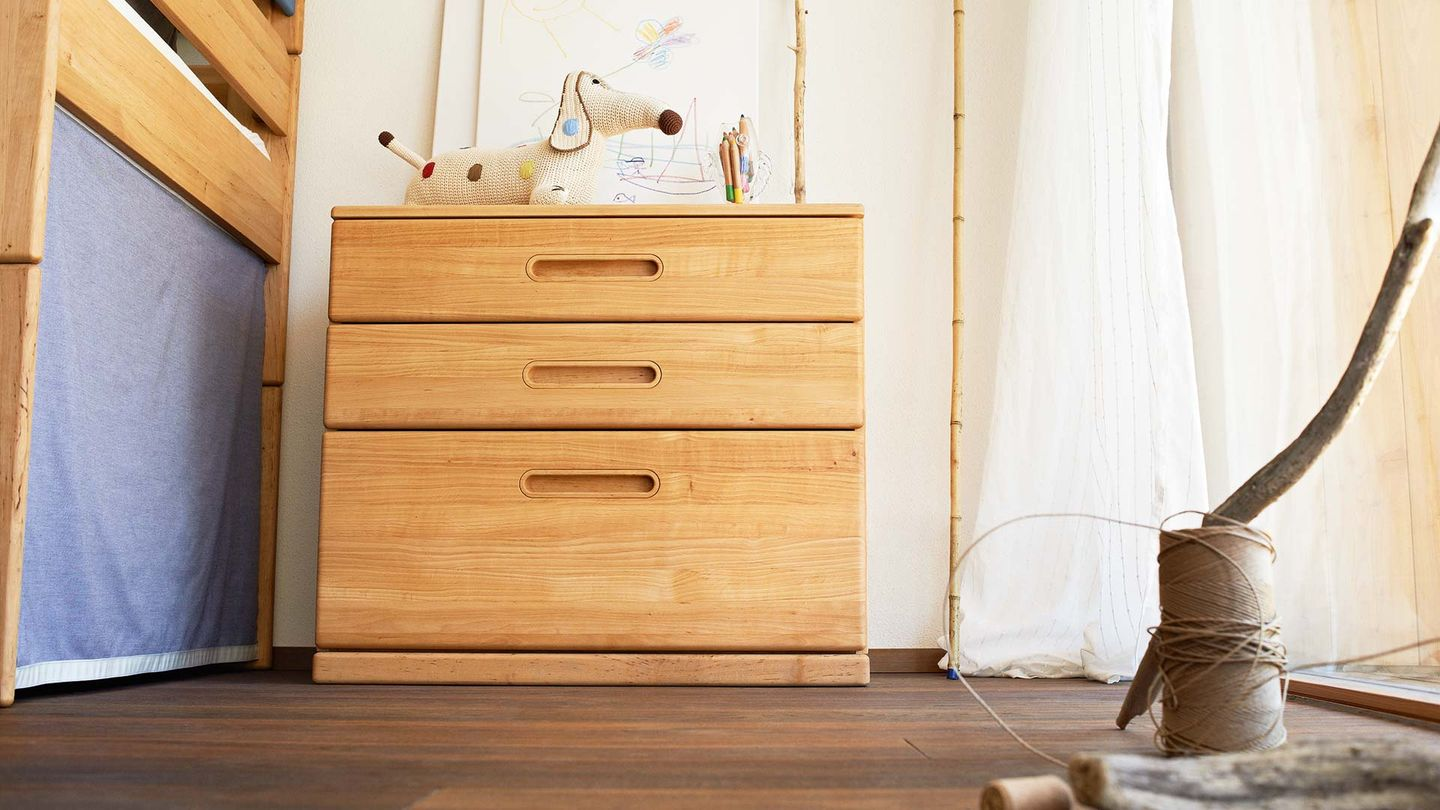 mobile kid's room dresser made of wood