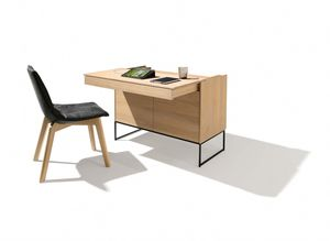 extended filigno writing desk offers legroom when sitting