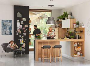 Küche l1 Massivholz Erle mit Barelement