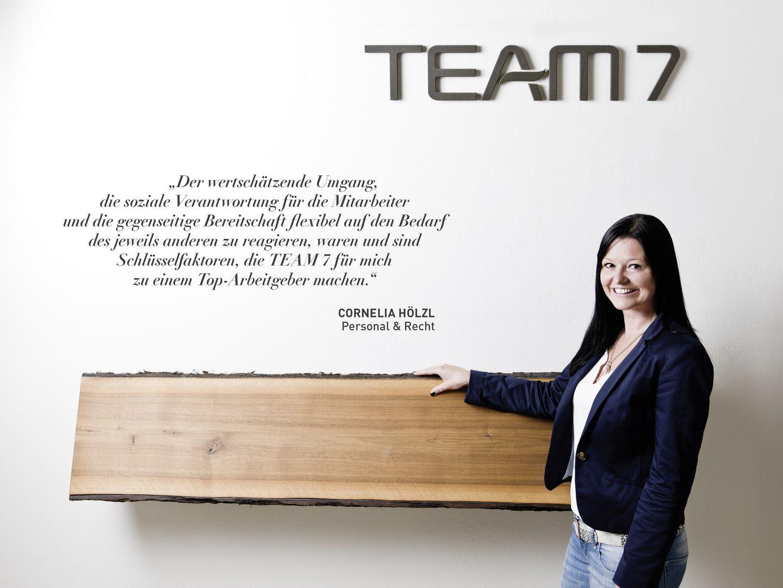 Statement von Cornelia Hölzl zum Arbeiten bei TEAM 7
