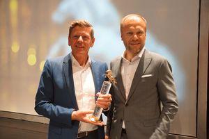 Georg Emprechtinger e Hermann Pretzl con il riconoscimento Pegasus d'oro
