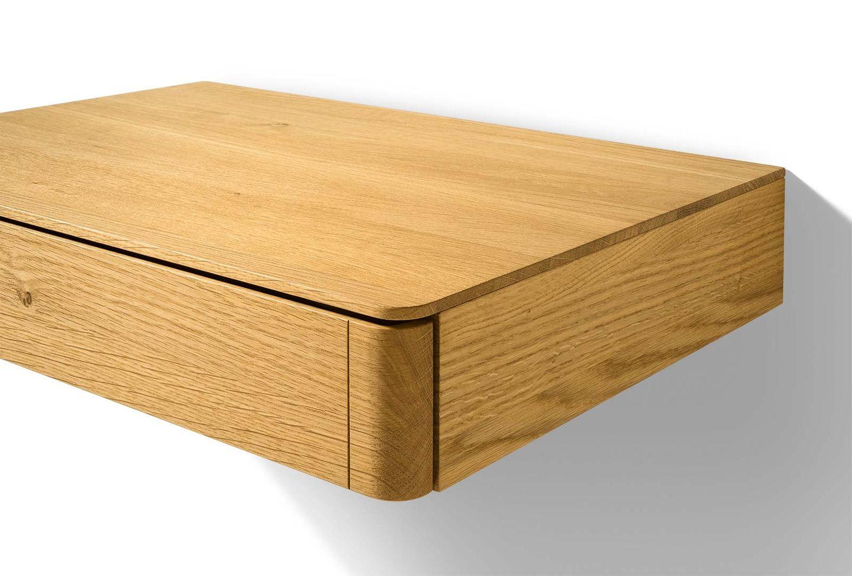 """Тумба для спальни """"float"""" из массива дерева с ящиком"""
