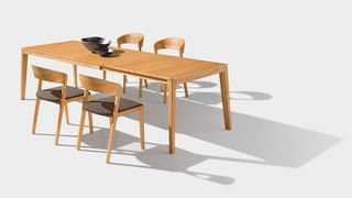 mylon chair matching the mylon table in beech heartwood