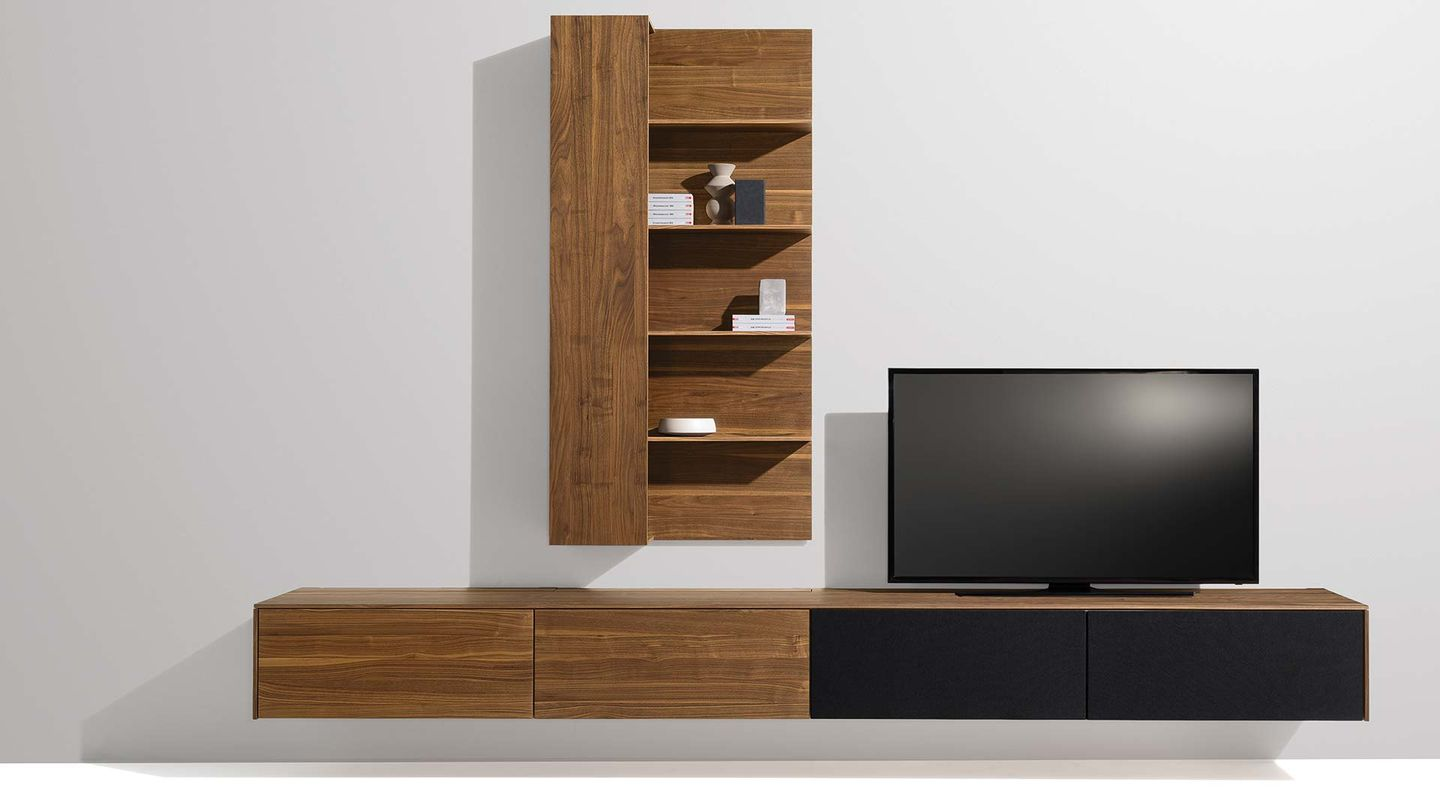 filigno wall unit in walnut by TEAM 7
