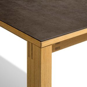 Table extensible magnum avec assemblage à tenons et mortaises et surface en céramique
