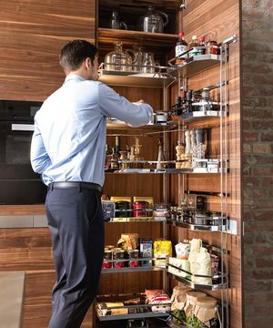 k7 kitchen island with tower cabinet