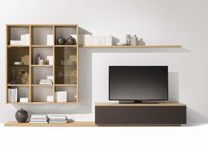 cubus wall unit with integrated shelf
