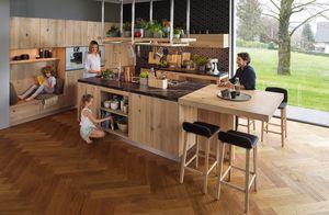 Massivholzküche loft in Eiche Wild
