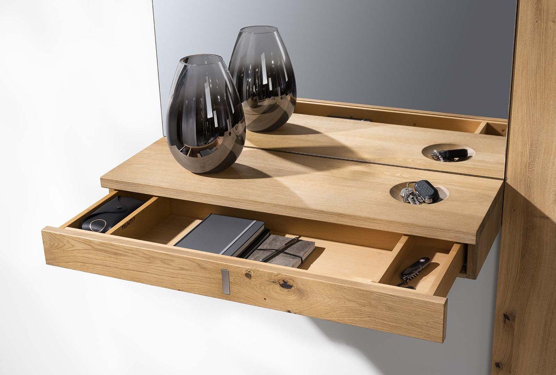 Mobili per ingressi cubus in massello con cassetto