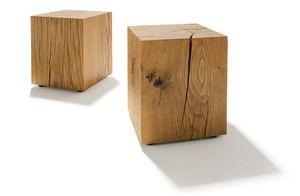 Beistelltisch Eichenblöcke aus Holz von TEAM 7