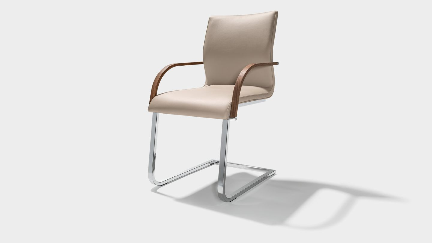 magnum leather dining chair with armrests
