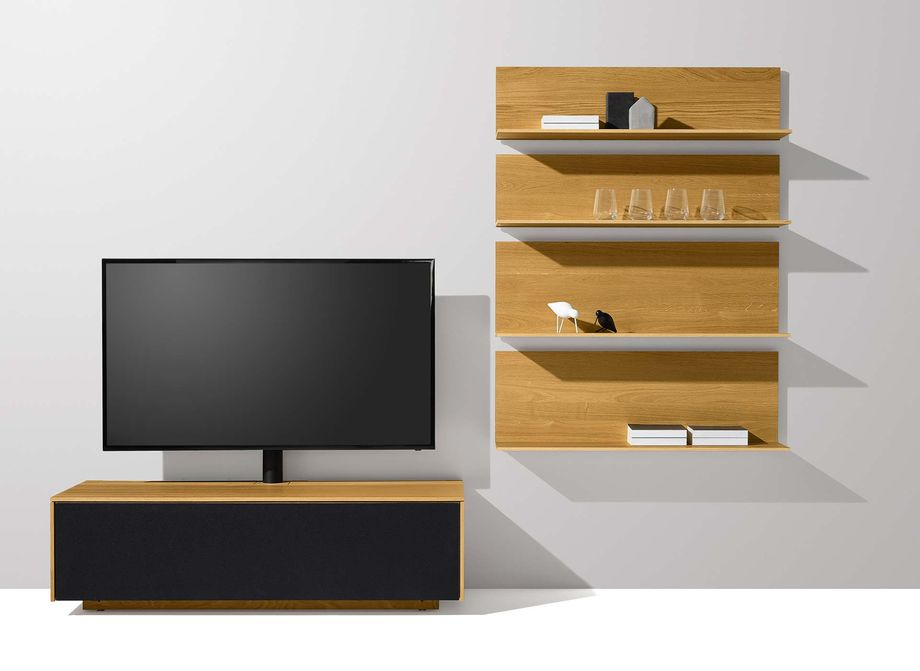 kernbuche tv mobel Home Entertainment filigno in Eiche von TEAM 7