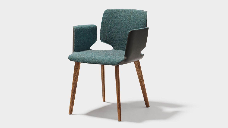 """Массивный деревянный стул """"aye"""" с подлокотниками"""