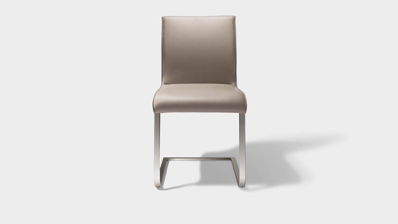 """Консольный стул """"magnum"""" из серой кожи, вид спереди"""