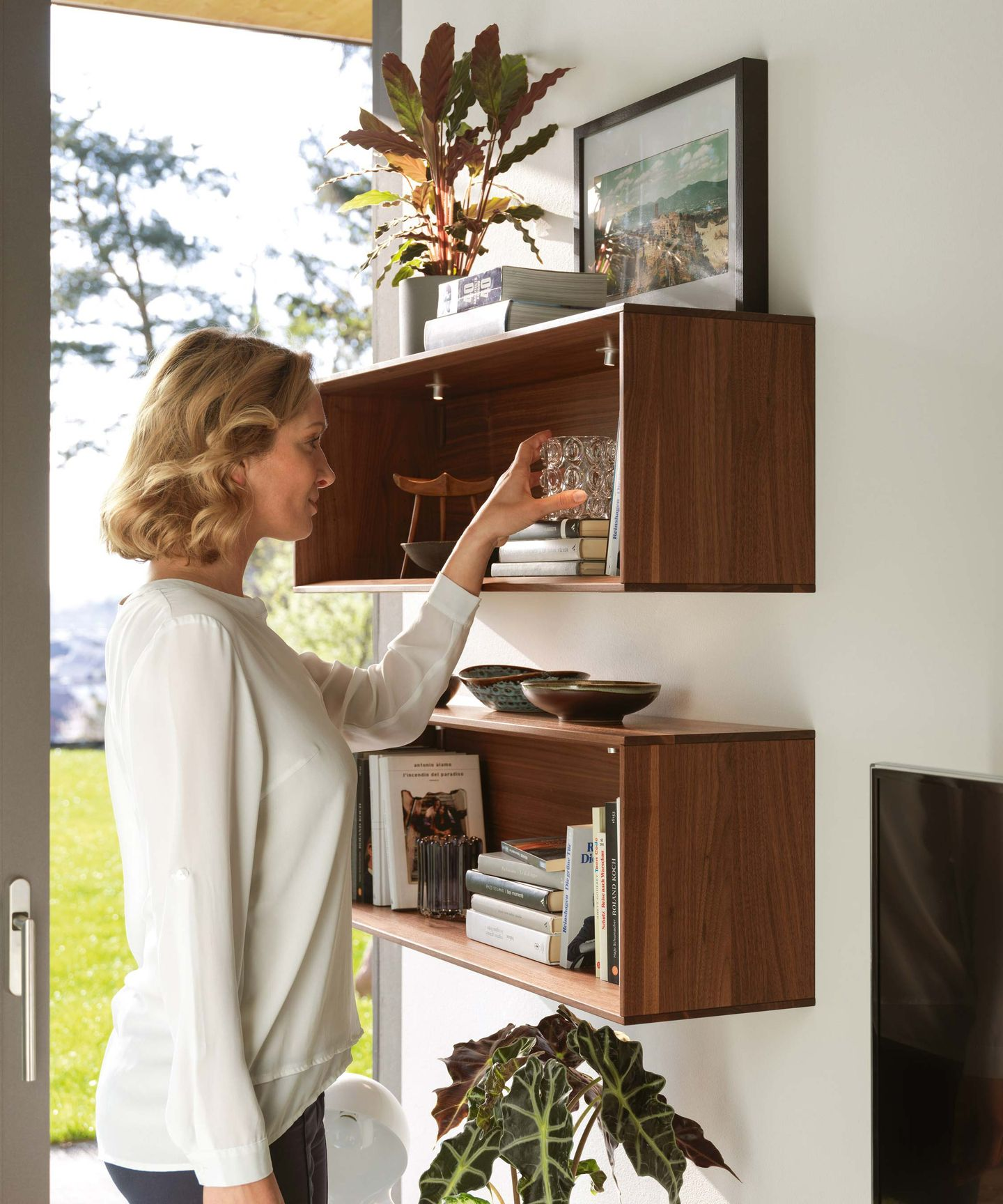 design elements of cubus pure living in walnut